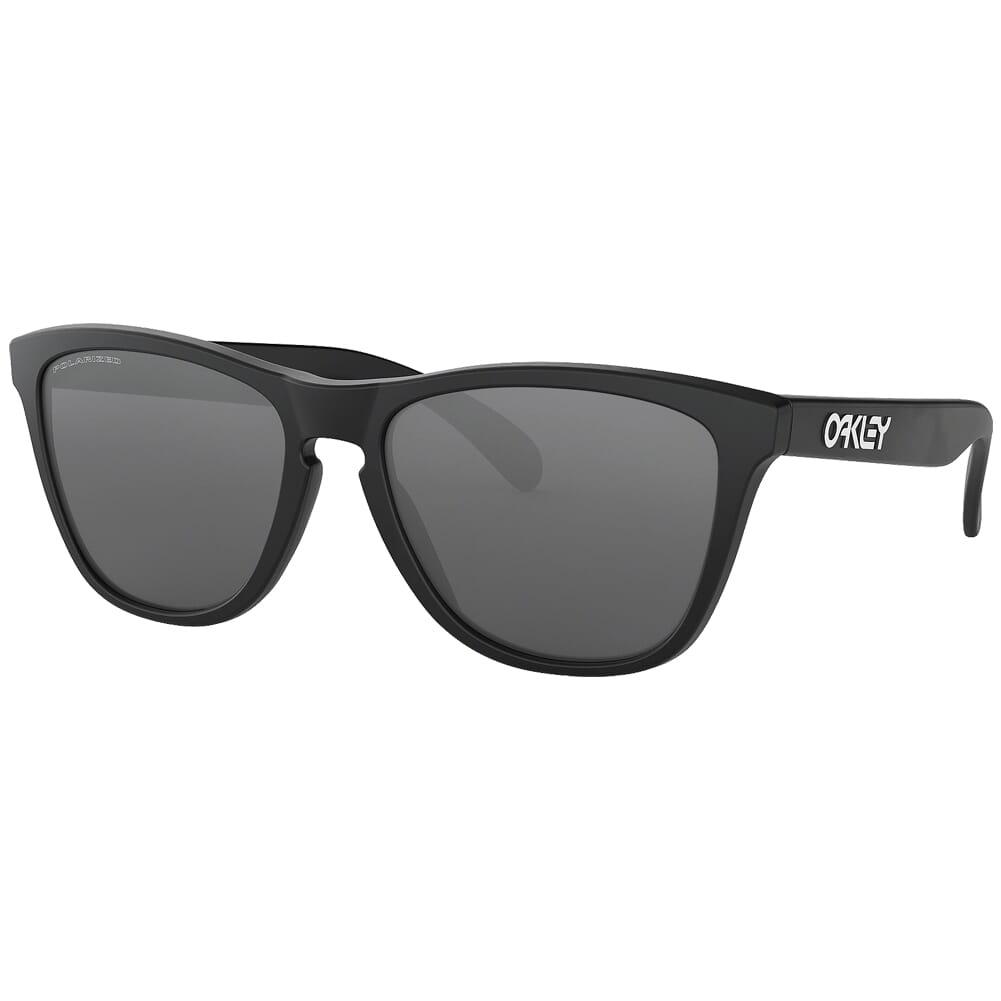 Oakley Frogskins Matte Black w/Black Iridium Polarized Lenses 24-297