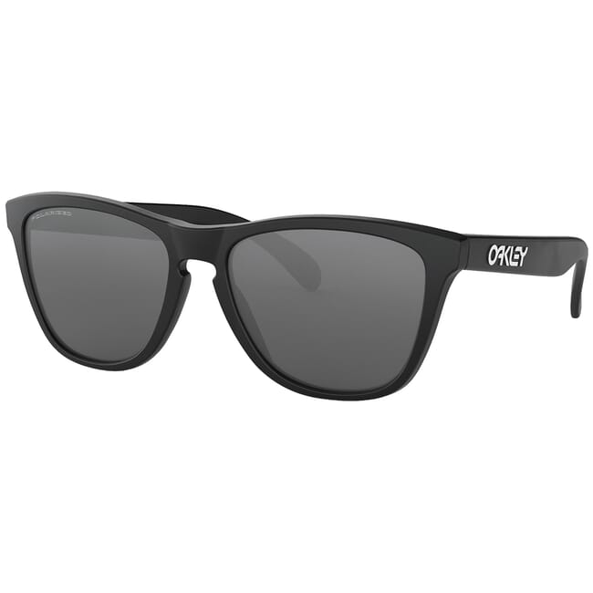 Oakley Frogskins Matte Black w/Black Iridium Polarized Lenses 24-297