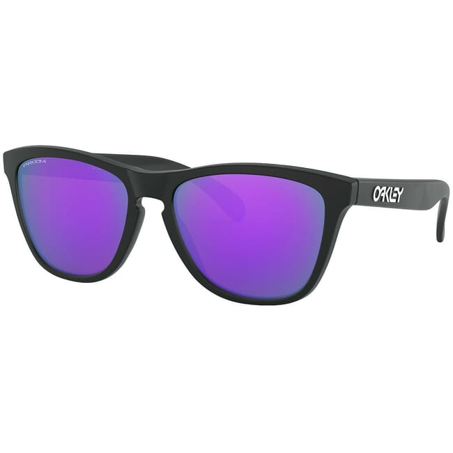 Oakley Frogskins Matte Black w/Violet Iridium Lenses 24-298