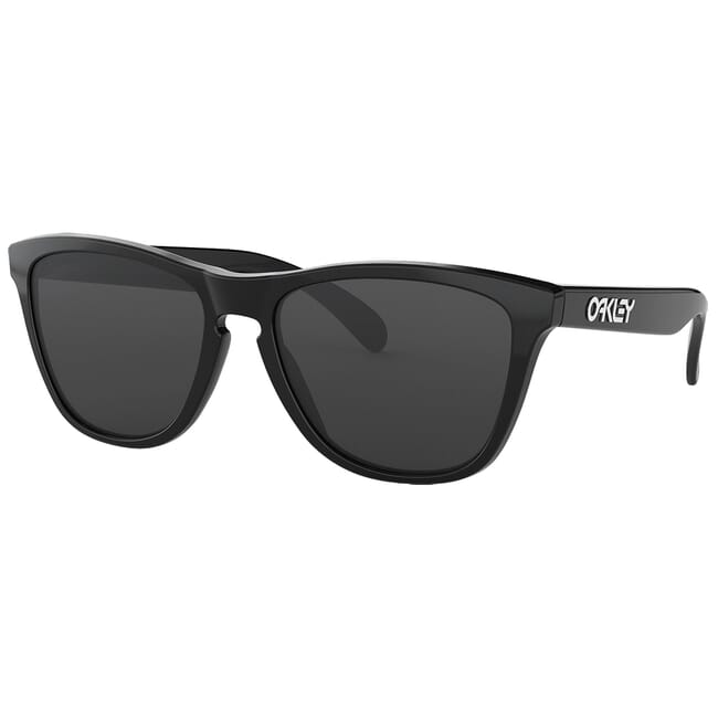 Oakley Frogskins Polished Black w/Grey Lenses 24-306