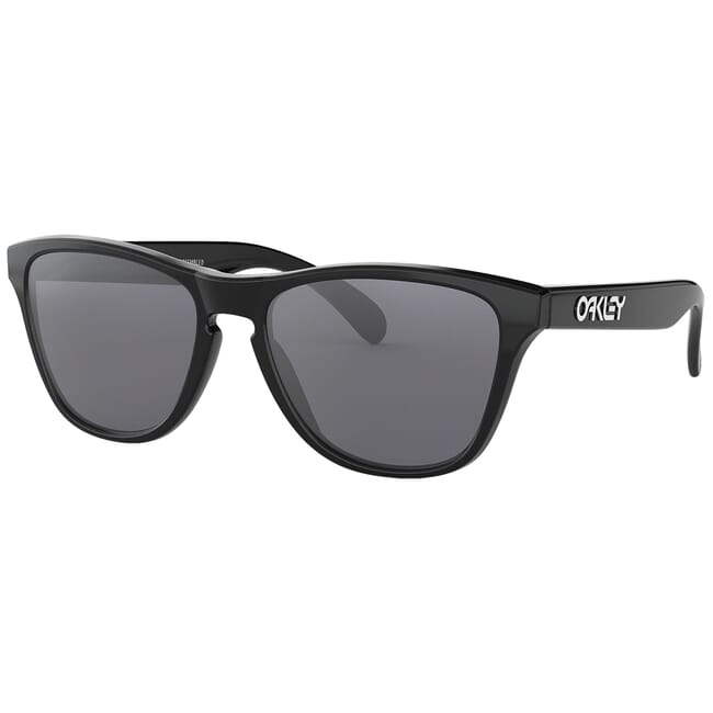Oakley Frogskins XS Polished Black w/Grey Lenses OJ9006-0153