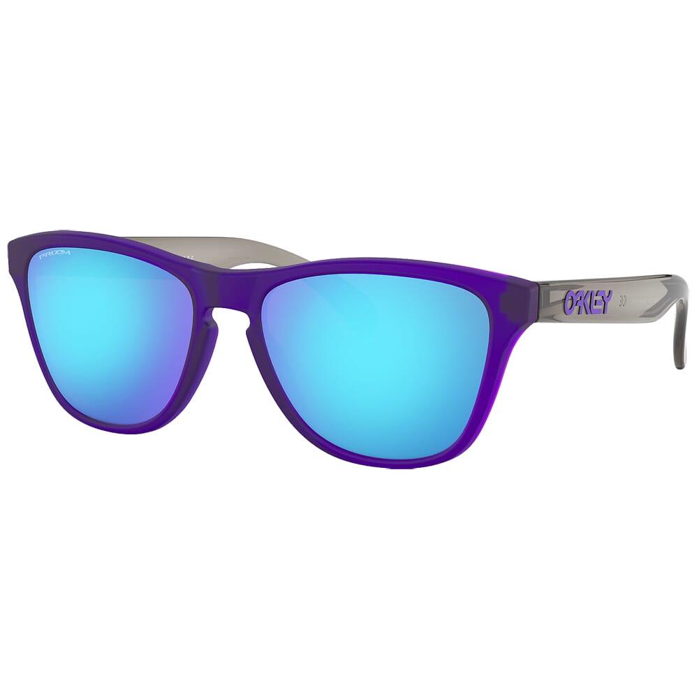 Oakley Frogskins XS Matte Transluscent Purple w/PRIZM Sapphire Lenses OJ9006-1153