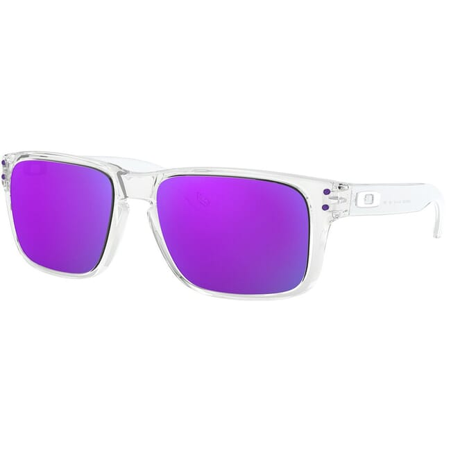 Oakley Holbrook XS Polished Clear w/Violet Iridium Lenses OJ9007-0253