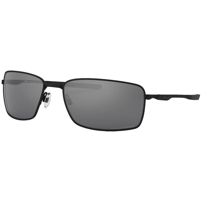 Oakley Square Wire Matte Black w/Black Iridium Polarized Lenses OO4075-05