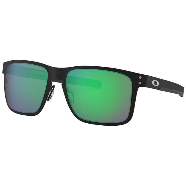 Oakley Holbrook Metal Matte Black w/Jade Iridium Lenses OO4123-0455