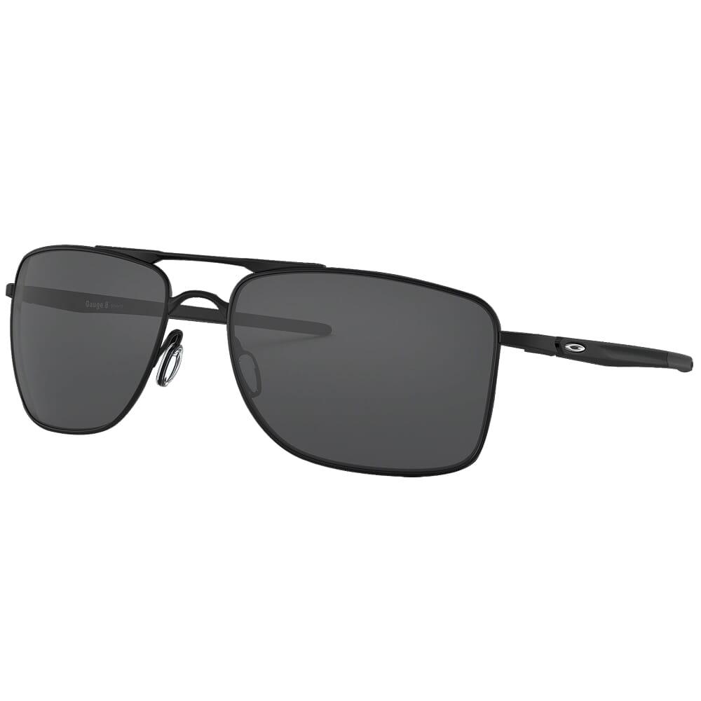 Oakley Gauge 8 L Matte Black w/Grey Lenses OO4124-0162