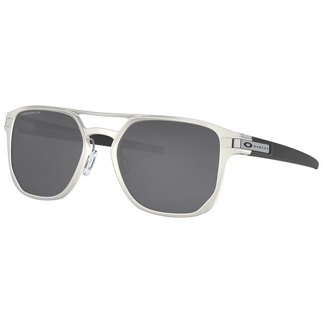 Oakley Latch Alpha Matte Silver w/PRIZM Black Polarized Lenses OO4128-0153