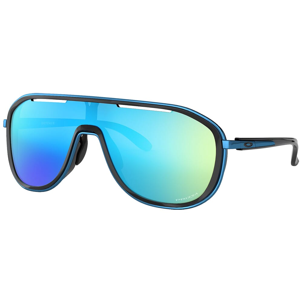 Oakley Outpace Polished Black/Sapphire w/PRIZM Sapphire Lenses OO4133-0326
