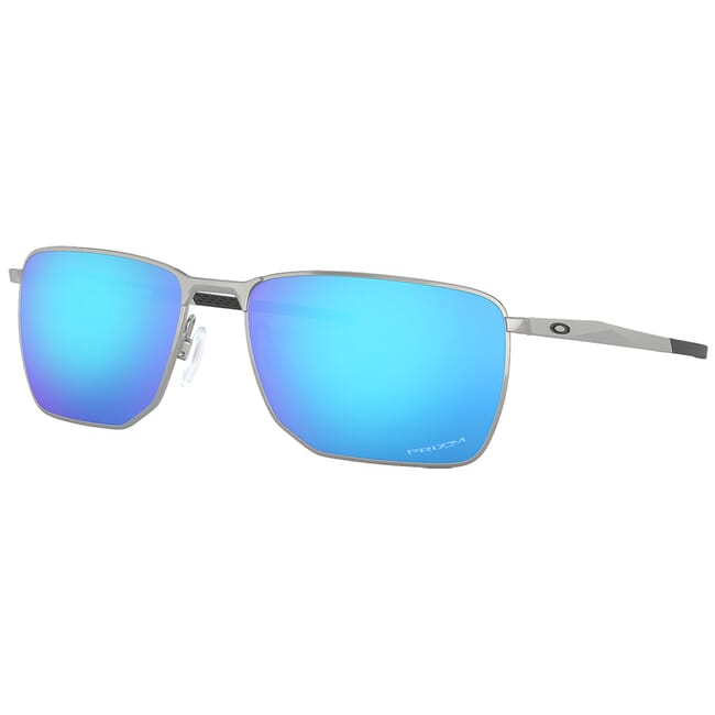 Oakley Ejector Satin Chrome w/PRIZM Sapphire Lenses OO4142-0458