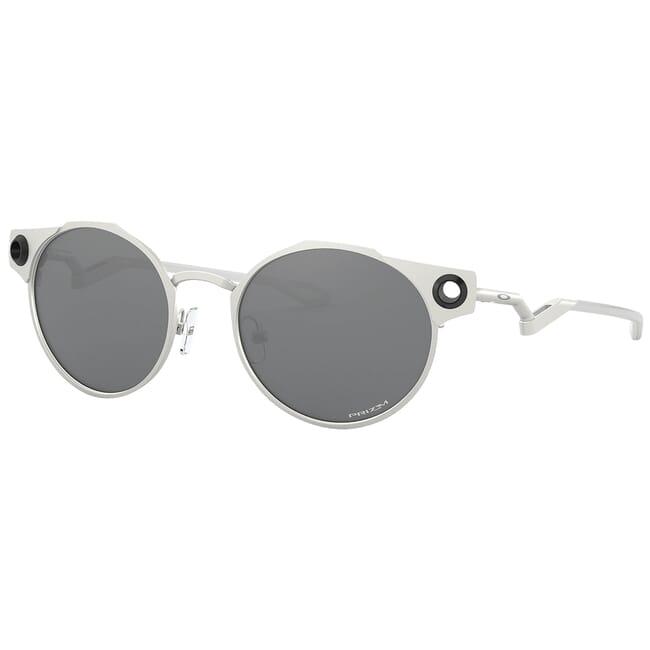 Oakley Deadbolt Satin Chrome w/PRIZM Black Lenses OO6046-0150