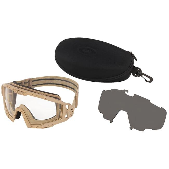Oakley SI Ballistic Goggle 2.0 Dark Bone w/Clear and Grey Lens Array OO7035-07