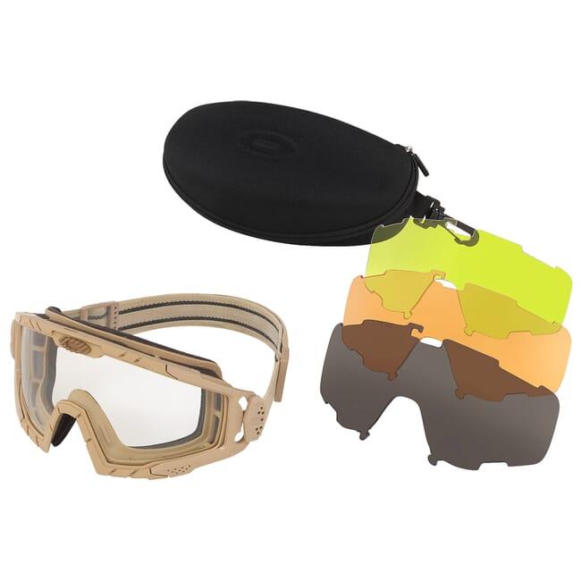 Oakley SI Ballistic Goggle 2.0 Dark Bone w/Clear, Gray, Laser, and Persimmon Lens Array OO7035-16