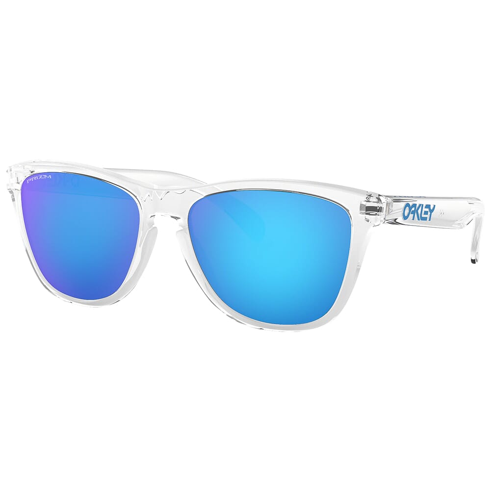 Oakley Frogskins Crystal Clear w/PRIZM Sapphire Lenses OO9013-D055