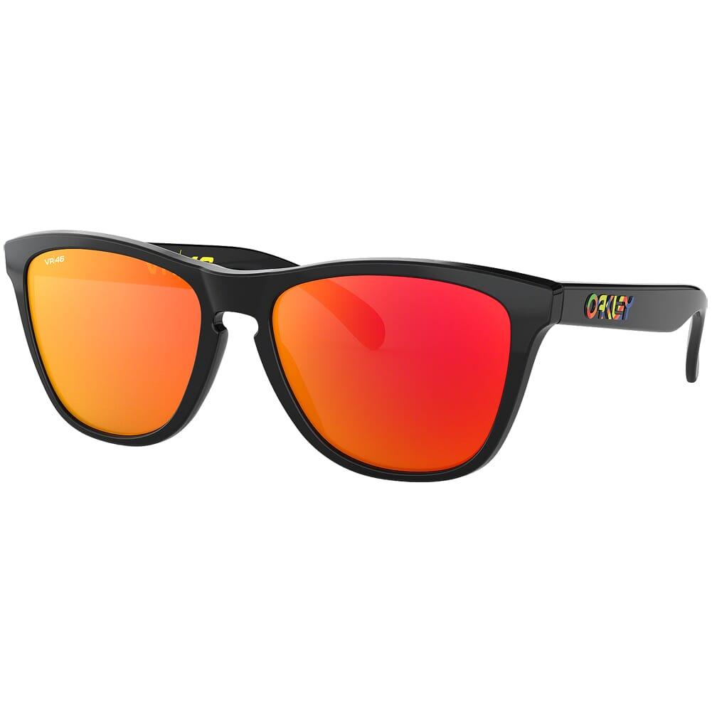 Oakley Frogskins VR46 Polished Black w/PRIZM Ruby Lenses OO9013-E655