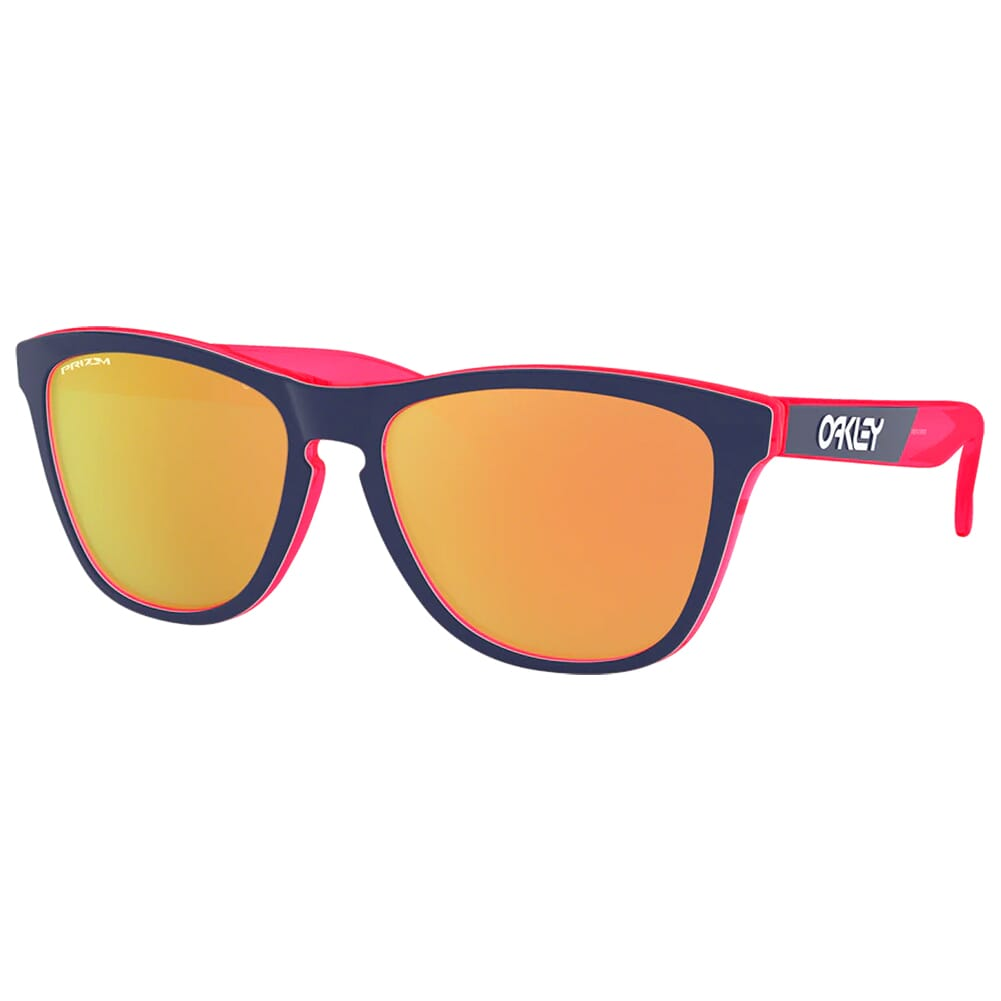 Oakley Frogskins CF Transluscent Neon Pink w/PRIZM Rose Gold Lenses OO9013-F255