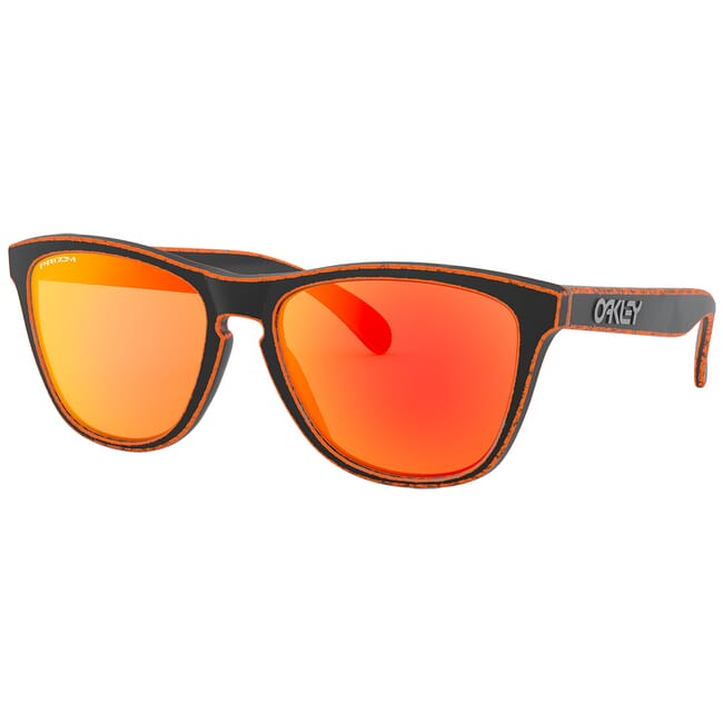 Oakley Frogskins Race Worn Orange w/PRIZM Ruby Lenses OO9013-G155