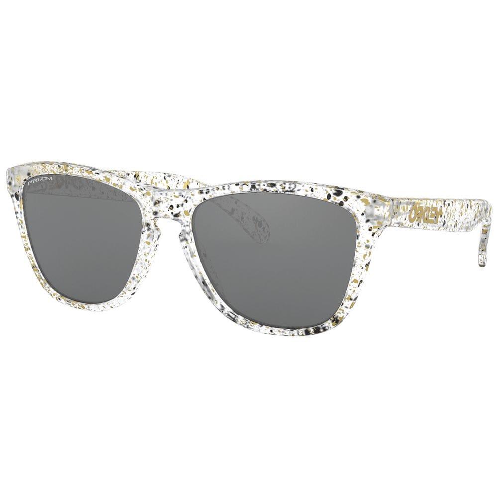 Oakley Frogskins Splatter Clear w/PRIZM Black Lenses OO9013-G655