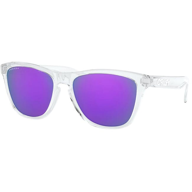 Oakley Frogskins Polished Clear w/Violet Iridium Lenses 24-305