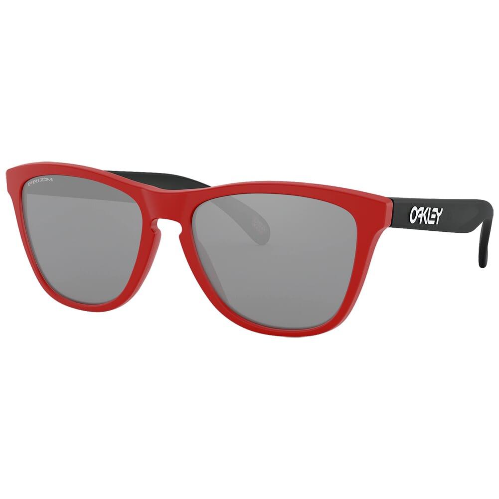 Oakley Frogskins Matte Redline/Black w/PRIZM Black Lenses OO9013-I255