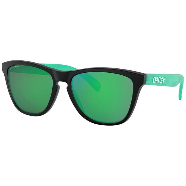 Oakley Frogskins Matte Black/Transluscent Green w/PRIZM Jade Lenses OO9013-I455