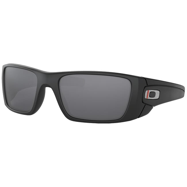Oakley SI Fuel Cell Thin Red Line Satin Black w/Black Iridium Lenses OO9096-I060