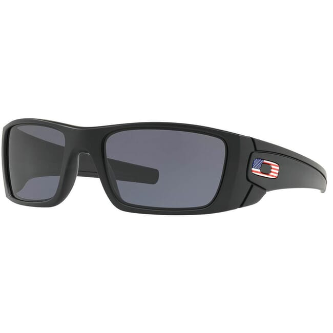 Oakley SI Fuel Cell/Matte Black/Grey US Flag Icon Lenses OO9096-38