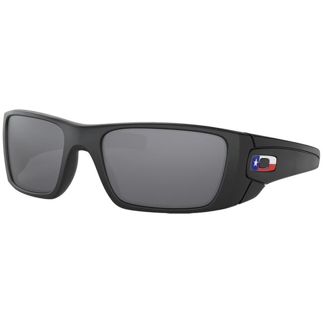 Oakley SI Fuel Cell Matte Black Texas Flag w/Black Iridium Lenses OO9096-J160