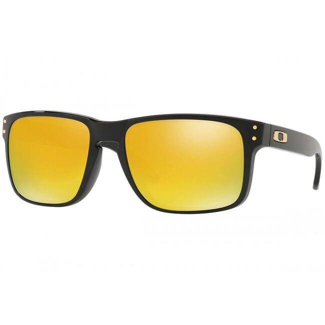 Oakley Holbrook Polished Black w/24K Iridium Lenses OO9102-E355