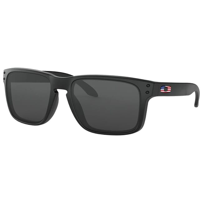 Oakley SI Holbrook USA Flag Matte Black w/Grey Lenses OO9102-E655