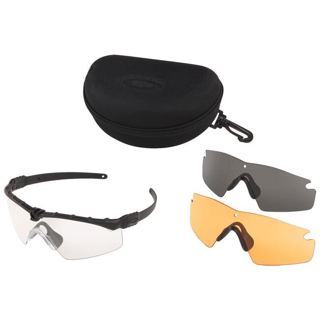 Oakley SI Ballistic M Frame 3.0 Black w/Clear, Grey, Persimmon Lens Array OO9146-04