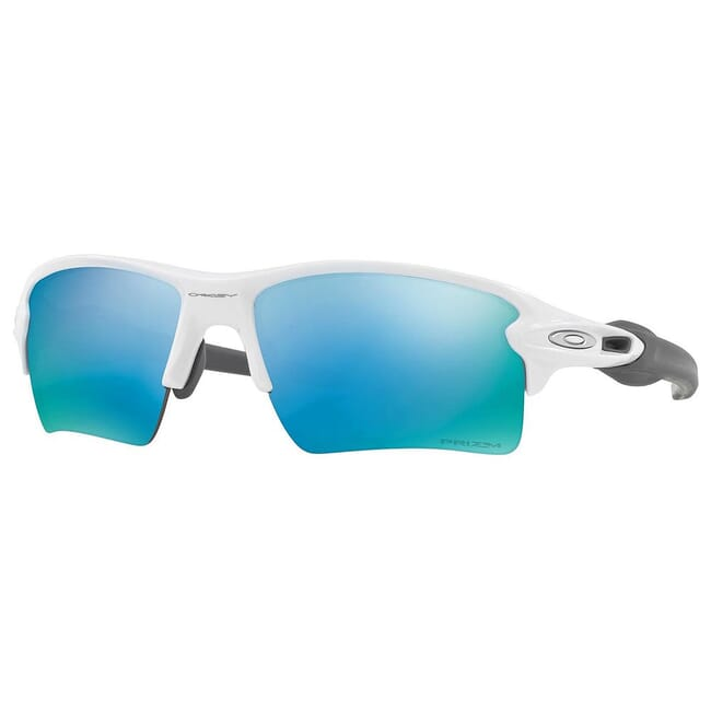 Oakley Half Jacket 20 XL Polished Whitew/PRIZM Deep Water Polarized Lenses OO9154-5862