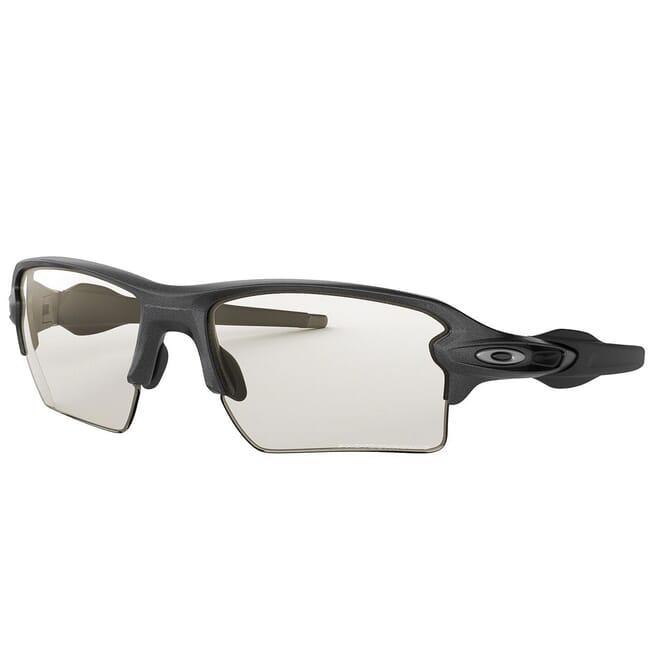 Oakley Flak 20 XL Steel w/Clear to Black Photo Lenses OO9188-16