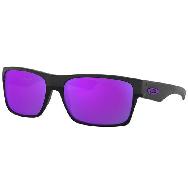 Oakley Two Face Matte Black w/Violet Iridium Lenses OO9189-08