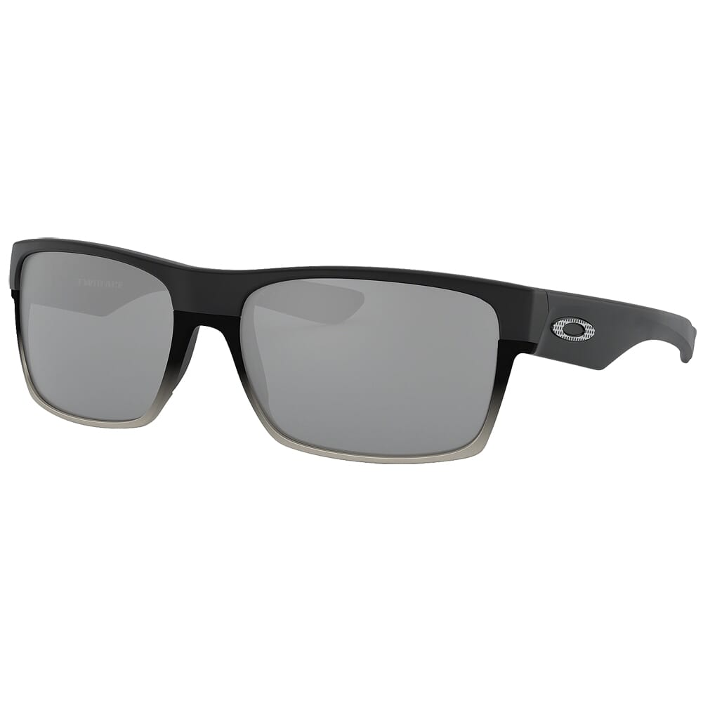 Oakley Two Face Machinist Matte Black w/Chrome Iridium Lenses OO9189-30