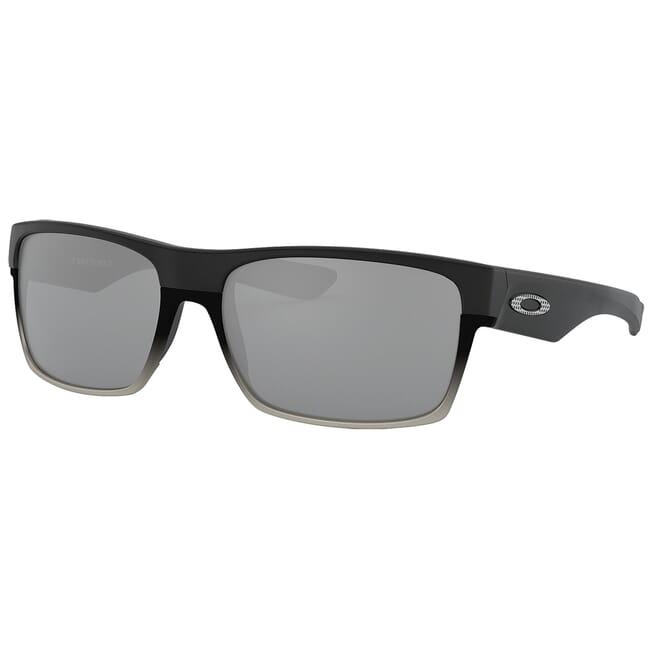 Oakley Two Face Machinist Matte Black w/Chrome Iridium Lenses OO9189-30