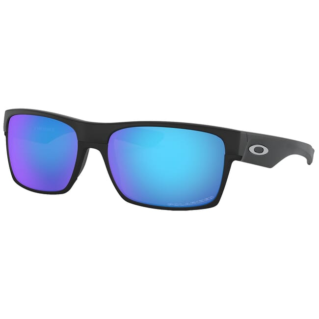 Oakley Two Face Matte Black W/Sapphire Iridium Polarized Lenses OO9189-3560