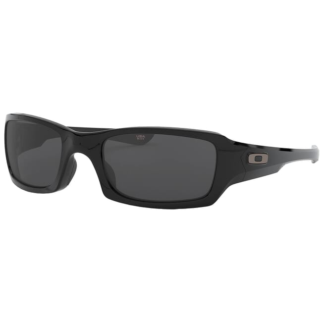 Oakley Fives Squared Polished Black w/Grey Lenses OO9238-04