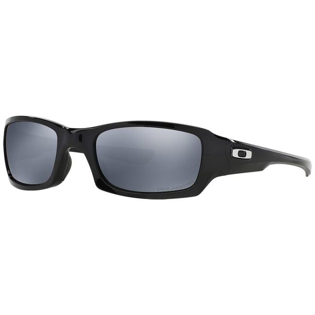 Oakley Fives Squared Polished Black w/Black Iridium Polarized Lenses OO9238-06
