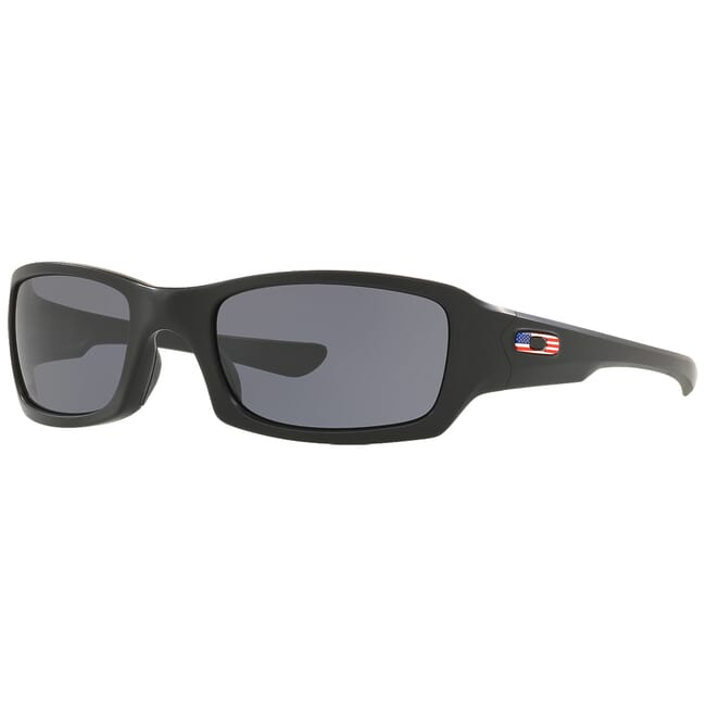 Oakley SI Fives Squared USA Matte Black w/Grey Lenses OO9238-3454