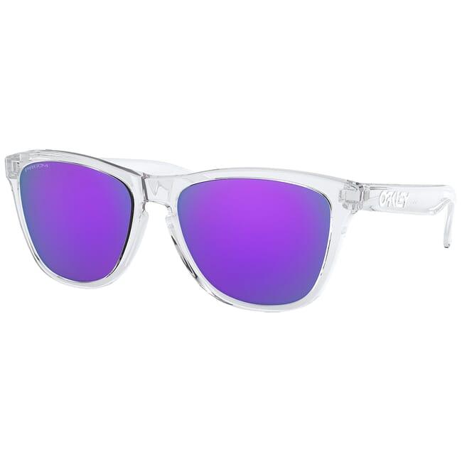 Oakley Frogskins (A) Polished Clear w/PRIZM Violet Lenses OO9245-9654