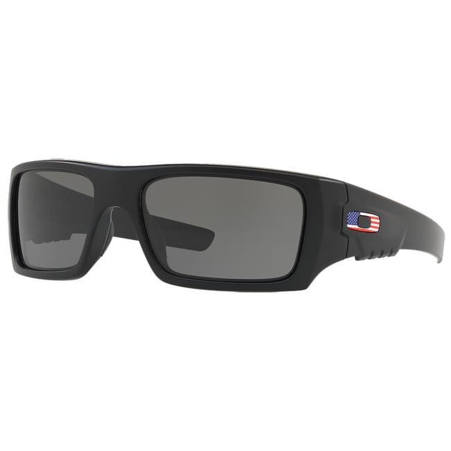 Oakley SI Det Cord Matte Black w/ USA Flag Grey Lenses OO9253-11