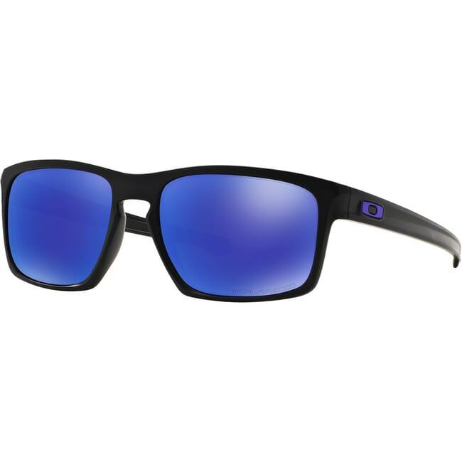 Oakley Sliver Matte Black w/Violet Iridium Polarized Lenses OO9262-10