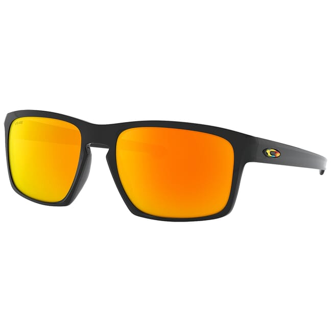 Oakley Sliver Valentino Rossi Polished Black w/Fire Iridium Lenses OO9262-27