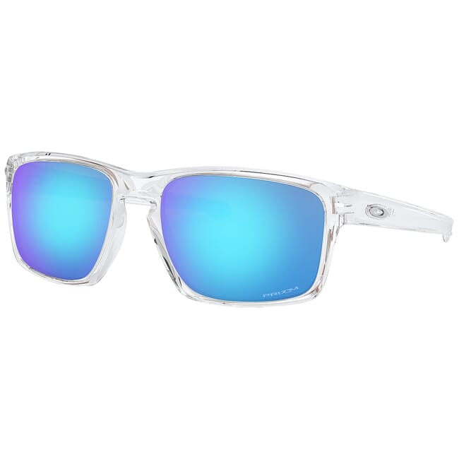 Oakley Sliver Polished Clear w/PRIZM Sapphire Lenses OO9262-4757