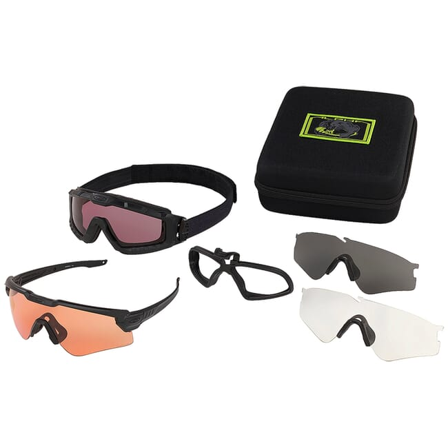 Oakley SI Ballistic M Frame ALPHA Operator Kit w/Square Case + Clear, Grey, PRIZM TR22, and PRIZM TR45 Lens Array OO9296-02