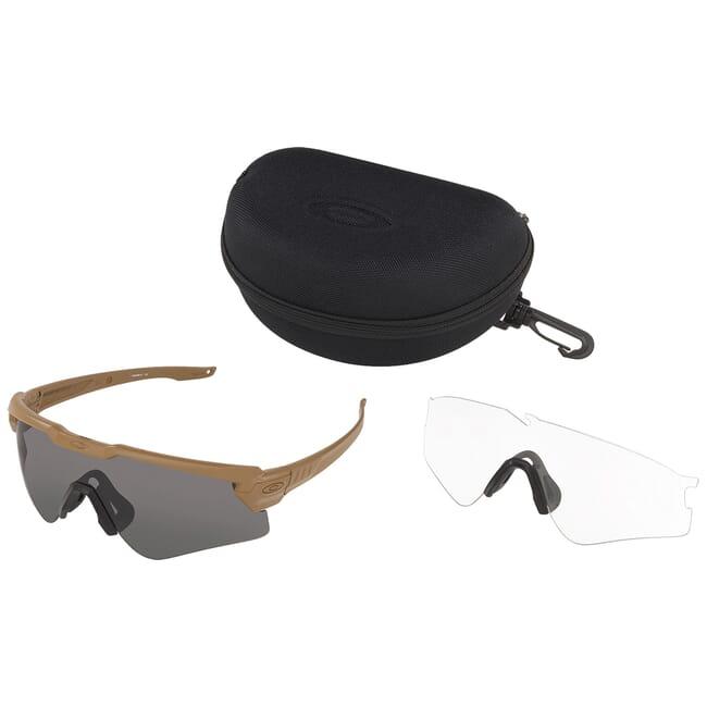 Oakley SI Ballistic M Frame ALPHA TAN w/Clear and Gray Lens Array OO9296-07