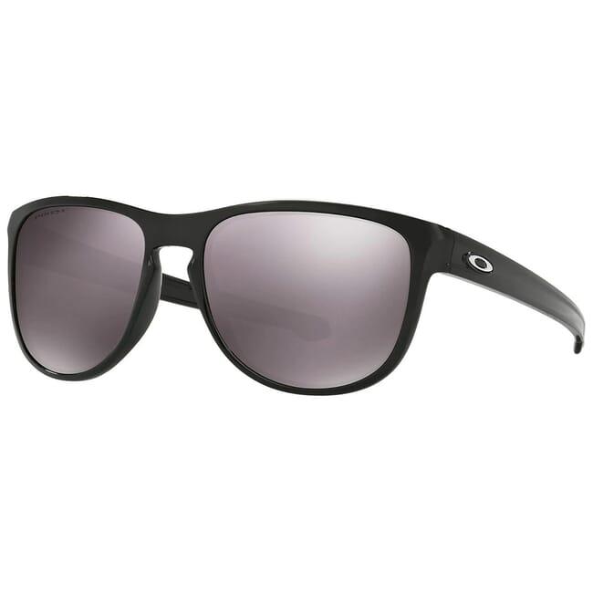 Oakley Sliver Round Polished Black w/Black Iridium Polarized Lenses OO9342-1657
