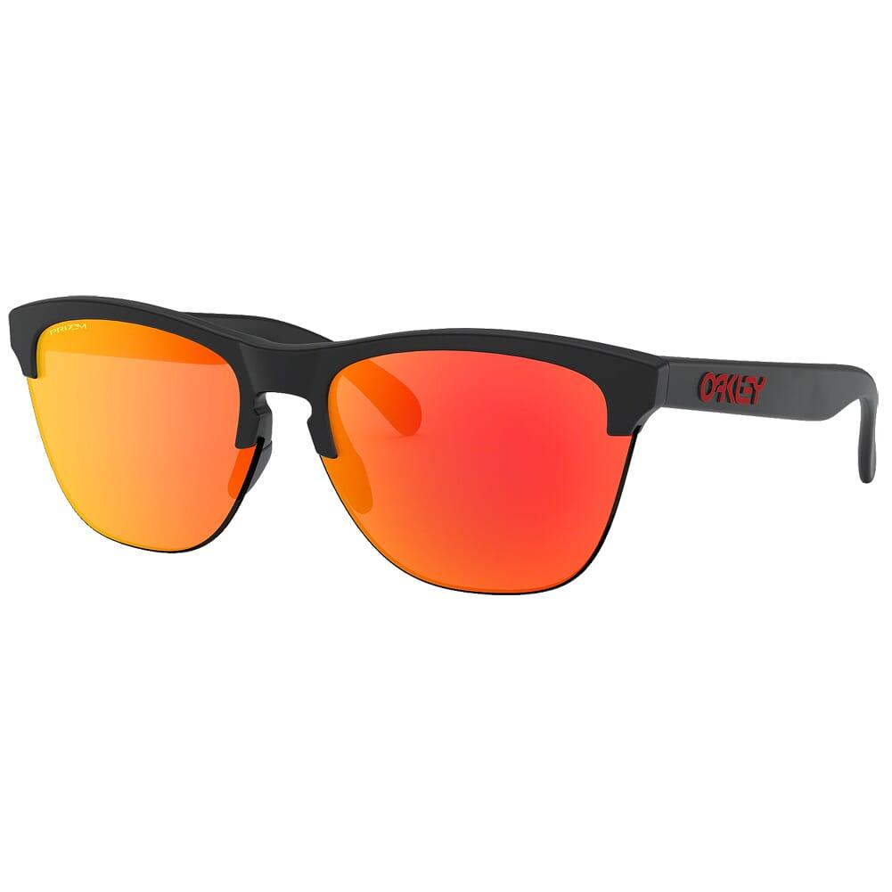 Oakley Frogskins Lite Matte Black w/PRIZM Ruby Lenses OO9374-0463
