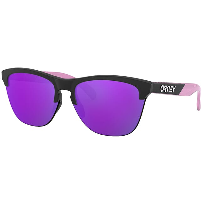 Oakley Frogskins Lite CF Black and Translucent Purple w/Violet Iridium Lenses OO9374-1863