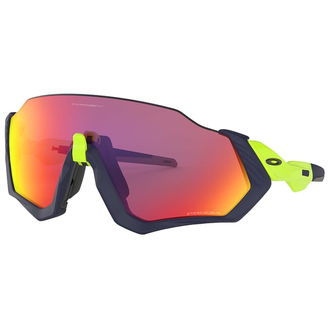 Oakley Flight Jacket Matte Navy and Retina Burn w/PRIZM Road Lenses OO9401-0537